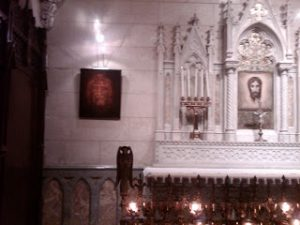 Shroud hologram in st. patrick cathedral