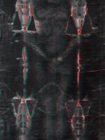 Anaglyph of the complete Shroud Of Turin.